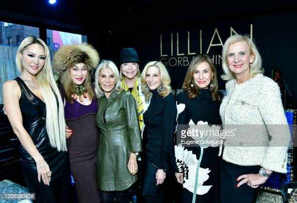 Lillian Gorbachincky Lucia Hwong Gordon Andrea Wernick Suzan Kremer Randi Schatz Maria Fishel and Ruth Miller attend the Andrea Bocelli Foundation...