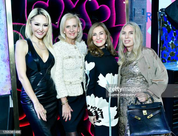 Lillian Gorbachincky Ruth Miller Maria Fishel and Lauren Lawrence attend the Andrea Bocelli Foundation Lillian Gorbachincky Present First Annual...