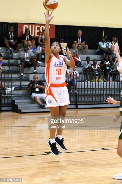 Lillian Jackson of South Girls goes to the basket against Midwest Girls during the Jr NBA World Championship on August 7 2018 at the ESPN Wide World...