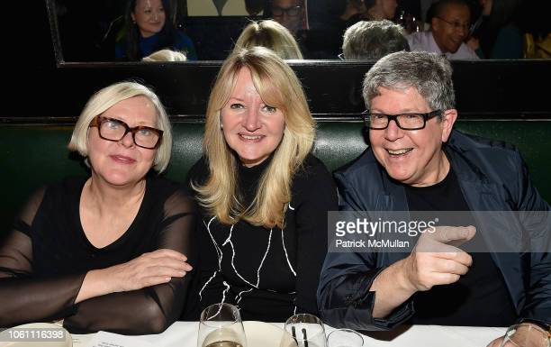 Lillian Katz Lisa Rosenblum and Michael Rosenblum attend The Andy Warhol Museum's Annual NYC Dinner at Indochine on November 12 2018 in New York New...