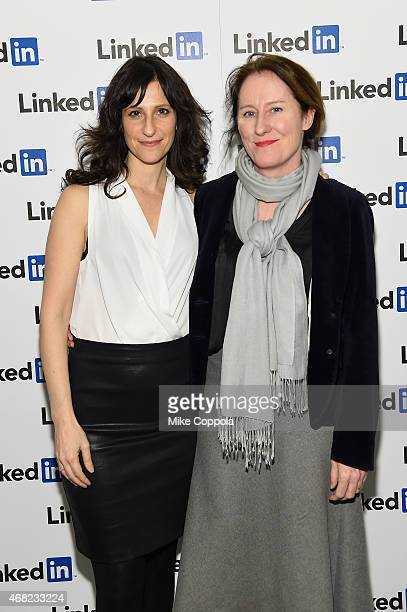 Lillian LaSalle and Donna Graham attend LinkedIn Discussion Series Executive Editor Dan Roth Interviews The Daily Show's Aasif Mandvi at LinkedIn NY...