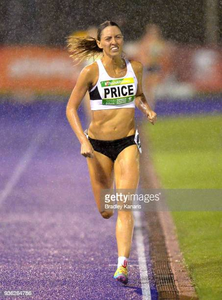 Lillian Price competes in the Women's 1500m event during the Summer of Athletics Grand Prix at QSAC on March 22 2018 in Brisbane Australia