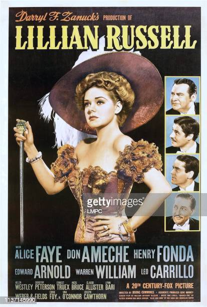 Alice Faye right from top Edward Arnold Don Ameche Henry Fonda Warren William 1940
