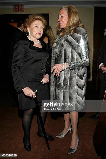 Lillian Vernon and Elaine Sargent attend SAVORING CITYMEALS an intimate Sunday Dinner with DANIEL BOULUD to Benefit CITY MEAL ON WHEELS at Restaurant...