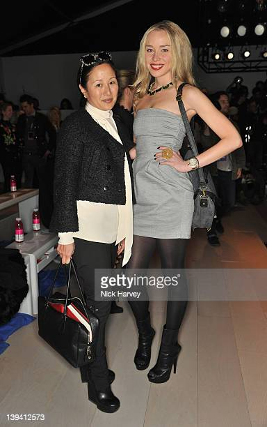 Lillian von Stauffenberg and Noelle Reno seen on the front row at the Mark Fast Autumn/Winter 2012 show at London Fashion Week at Somerset House on...
