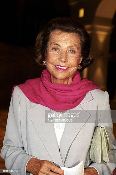 Lillianne Bettencourt in Paris France on September 13 2000
