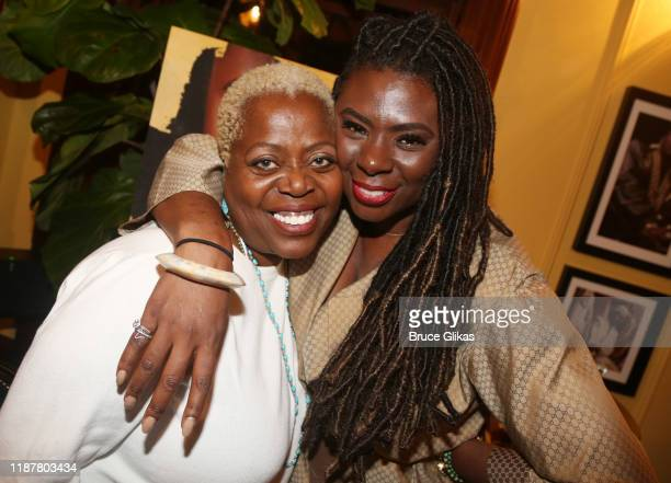 Lillias White and Creator/Host of North of 40 Podcast Maryam Myika Day pose at the celebration for the North of 40 Podcast Launch at Dapper Dan...