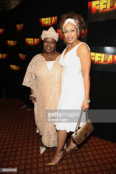 """Lillias White and Tamara Tunie attend the opening night party for """"Fela!"""" on Broadway at the Gotham Hall on November 23, 2009 in New York City."""
