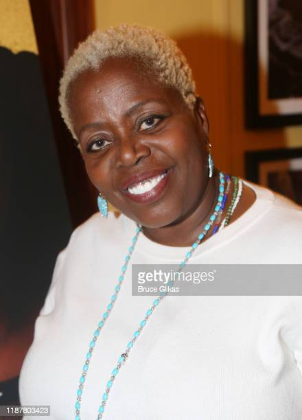 Lillias White poses at the celebration for the North of 40 Podcast Launch at Dapper Dan Atelier on November 14 2019 in New York City