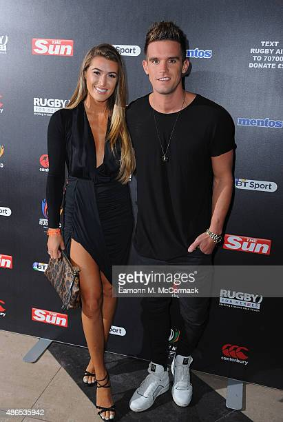 Lillie Gregg and Gaz Beadle attend the after party for Rugby Aid 2015 at Twickenham Stadium on September 4 2015 in London England