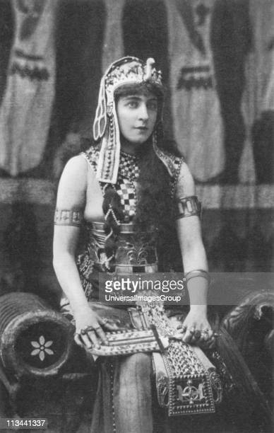 Lillie Langtry as Cleopatra c1885 English society beauty and actress born Emilie Charlotte Le Breton on Jersey Called the 'Jersey Lily' In late 1870s...