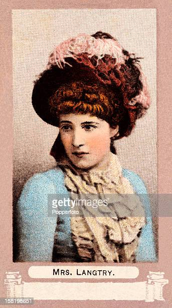 Lillie Langtry featured on a vintage cigarette card produced in London circa 1900 She was the daughter of the Dean of Jersey In 1874 she married...