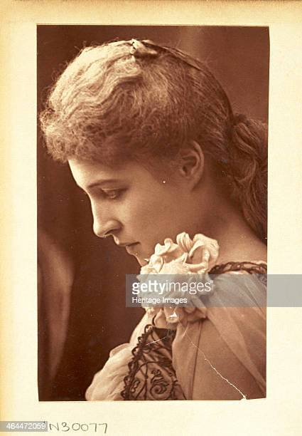 Lillie Langtry in 'Peril' c1885 Profile portrait of the actress in the role of Lady Ormonde in 'Peril' at the Prince of Wales Theatre London