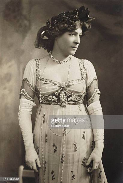 Lillie Langtry in role c 1910 British actress and mistress to Prince of Wales Queen Victoria's son Albert Edward the future king Edward VII 13...