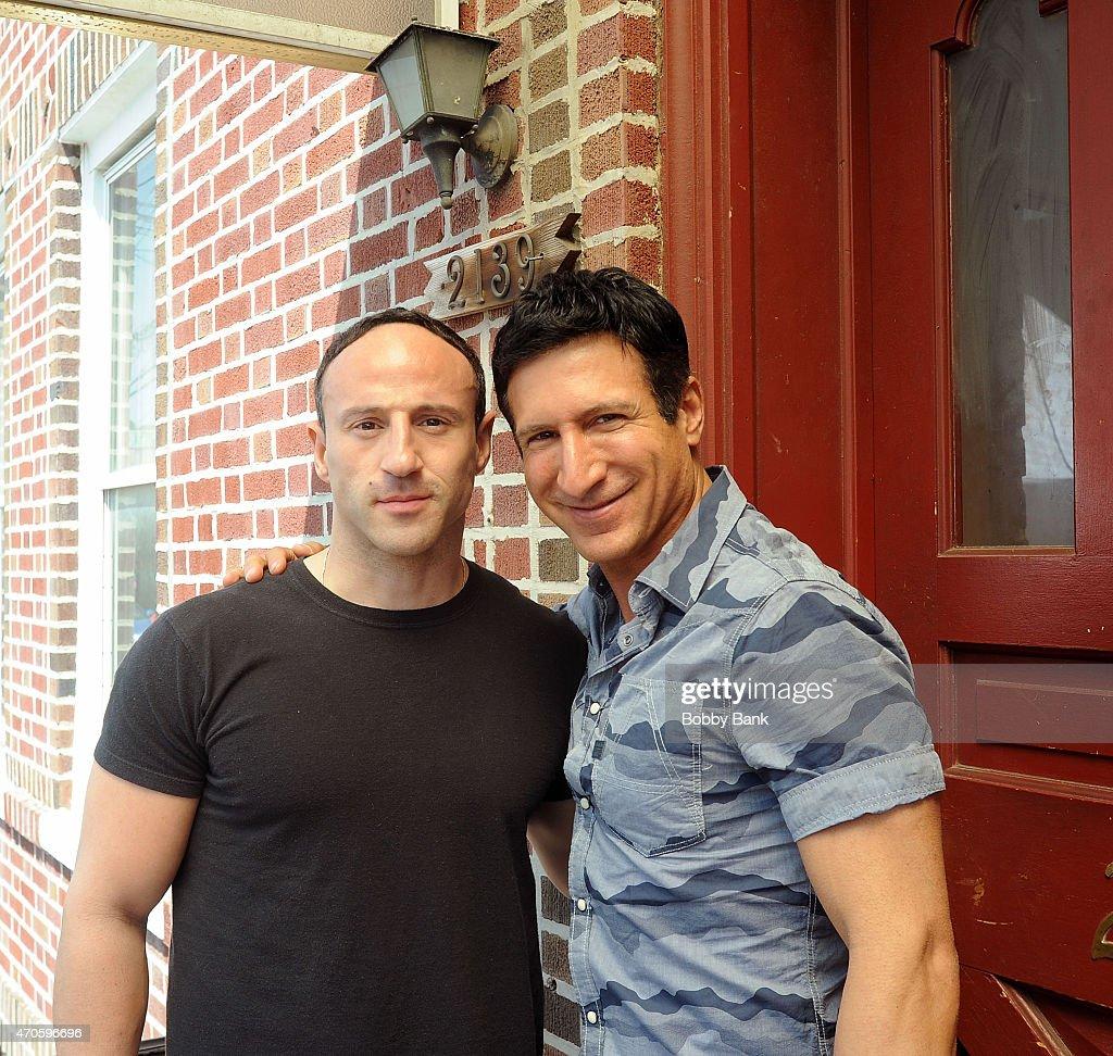 Lillo Brancato and William DeMeo on the set of