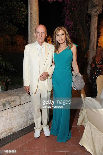 Lillo Sforza Ruspoli and Maria Pia Sforza Ruspoli attend the 'Fondazione Roma Mediterraneo Dinner' during the 57th Taormina Film Fest 2011 on June 18...