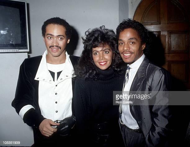 Lillo Thomas, Marlon Jackson, and wife during Jackson Family Sightings - Circa 1984 in New York City, New York, United States.