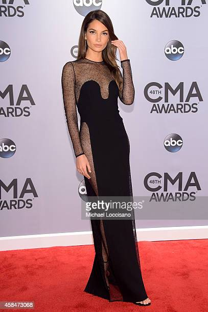 Lilly Aldridge attends the 48th annual CMA Awards at the Bridgestone Arena on November 5 2014 in Nashville Tennessee