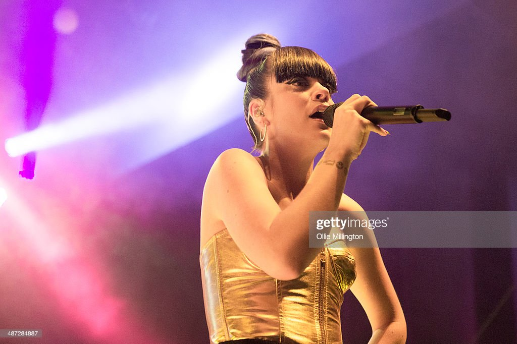 Lilly Allen performs onstage at the launch show for her new album 'Sheezus' released in the UK on May 05th at 02 Shepherd's Bush Empire on April 28, 2014 in London, England.