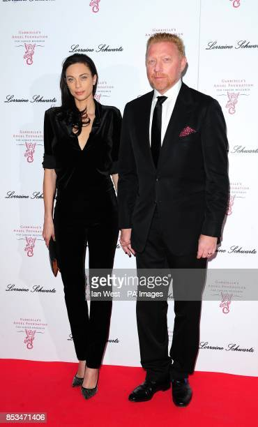 Lilly and Boris Becker attending Gabrielle's Gala fundraiser for the Gabrielle's Angel Foundation at Old Billingsgate London