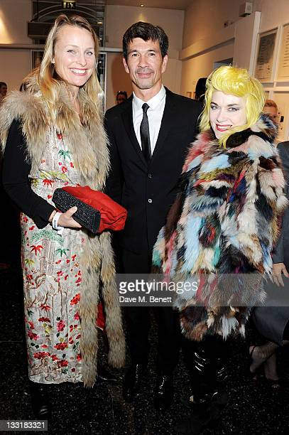 Lilly Barclay director Alex Turnbull and Pam Hogg attend the UK Film Premiere of 'Beyond Time William Turnbull' at The Institute Of Contemporary Arts...