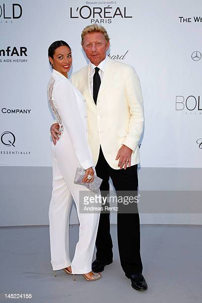 Lilly Becker and Boris Becker arrive at the 2012 amfAR's Cinema Against AIDS during the 65th Annual Cannes Film Festival at Hotel Du Cap on May 24,...