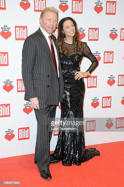 Lilly Becker and Boris Becker attend 'Ein Herz Fuer Kinder Gala 2012' Red Carpet Arrivals at Axel Springer Haus on December 15 2012 in Berlin Germany