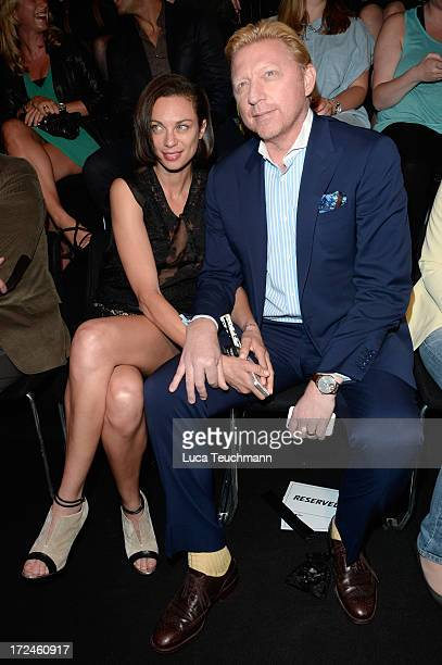 Lilly Becker and Boris Becker attend Riani Show during Mercedes-Benz Fashion Week Spring/Summer 2014 at Brandenburg Gate on July 2, 2013 in Berlin,...