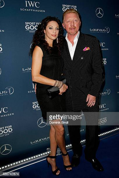 Lilly Becker and Boris Becker attend the Laureus Sport for Good Night 2014 at Bayerischer Hof on September 19 2014 in Munich Germany