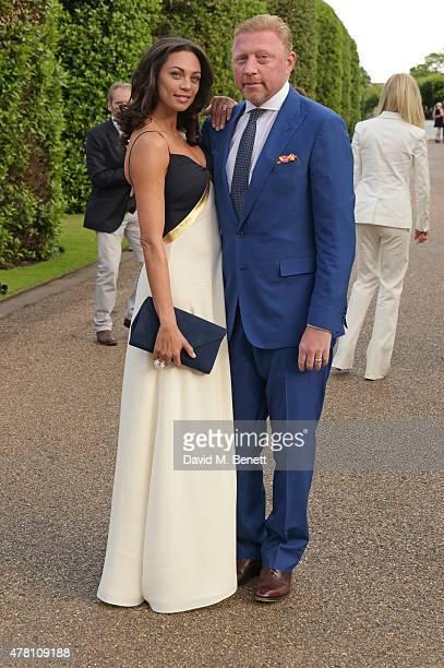 Lilly Becker and Boris Becker attend The Ralph Lauren Vogue Wimbledon Summer Cocktail Party hosted by Alexandra Shulman and Boris Becker at The...