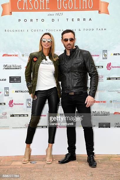 Lilly Becker and Bryan Larkin attend Matchless E Bike Presentation on June 5 2016 at Casone Ugolino in Castagneto Carducci near Livorno Italy