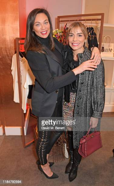 Lilly Becker and Elen Rivas attend the launch of Naomi Campbell's Fashion For Relief charity popup store at Westfield London on November 26 2019 in...