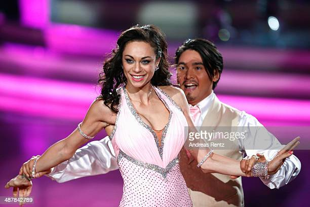 Lilly Becker and Erich Klann perform during the 5th show of 'Let's Dance' on RTL at Coloneum on May 2, 2014 in Cologne, Germany.