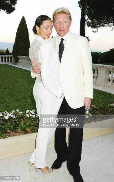 Lilly Becker and former tennis player Boris Becker attend the 2012 amfAR's Cinema Against AIDS during the 65th Annual Cannes Film Festival at Hotel...