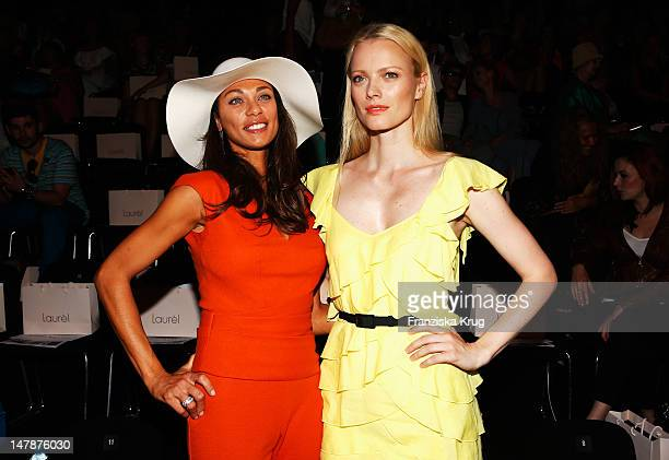 Lilly Becker and Franziska Knuppe sit in front row during the Laurel Show during the MercedesBenz Fashion Week Spring/Summer 2013 on July 5 2012 in...