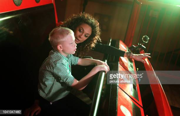 Lilly Becker and her sevenyearold son Amadeus photographed at the opening of the LEGO Ninjago World at the Legoland in Guenzburg Germany 1 April 2017...