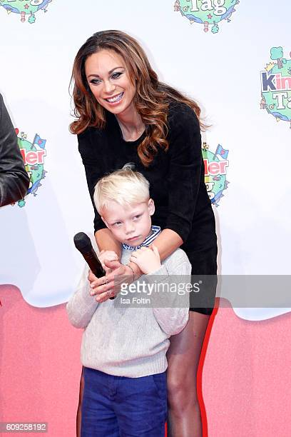 Lilly Becker and her son Amadeus Becker attend the KinderTag to celebrate children's day on September 20 2016 in Noervenich near Dueren Germany