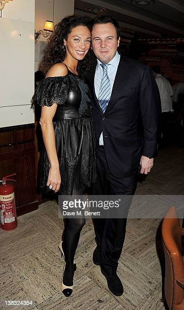 Lilly Becker and Jonathan Sanders attend a private Laureus Awards predinner hosted by Georges Kern CEO of IWC Schaffhausen at Cipriani on February 5...