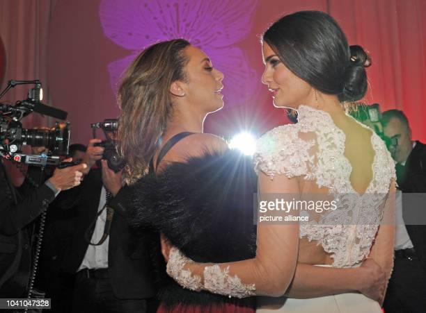 Lilly Becker and model Shermine Shahrivar attend the Barbara Day celebrations hosted by chocolate manufacturer Mon Cheri in Munich Germany 4 December...