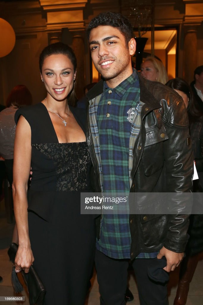 Lilly Becker and Noah Becker attend Basler Autumn/Winter 2013/14 fashion show during Mercedes-Benz Fashion Week Berlin at Hotel De Rome on January 16, 2013 in Berlin, Germany.