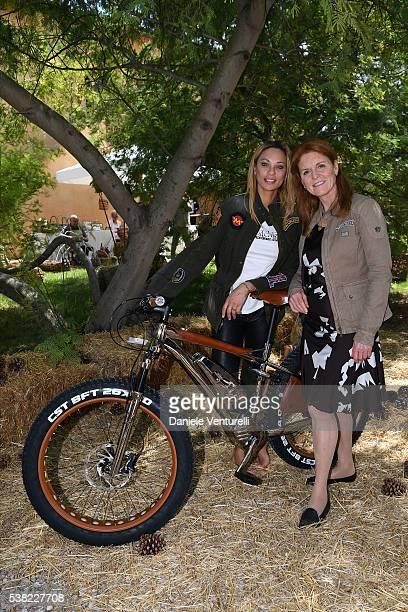 Lilly Becker and Sarah Ferguson Duchess of York attend Matchless E Bike Presentation on June 5 2016 at Casone Ugolino in Castagneto Carducci near...