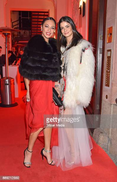 Lilly Becker and Shermine Shahrivar attend the Ein Herz Fuer Kinder Gala 2017 After Show Party at Borchardt Restaurant on December 9 2017 in Berlin...