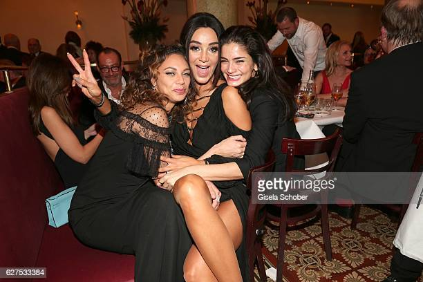 Lilly Becker and Verona Pooth and Shermine Shahrivar during the Ein Herz Fuer Kinder after show party at Borchardt Restaurant on December 3 2016 in...