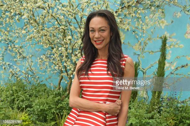 Lilly Becker attends an exclusive VIP preview of the Van Gogh Alive Museum as it arrives in London's Kensington Gardens on June 3, 2021 in London,...