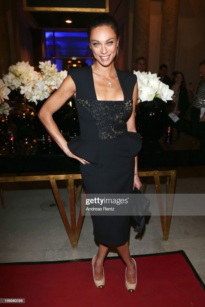 Lilly Becker attends Basler Autumn/Winter 2013/14 fashion show during Mercedes-Benz Fashion Week Berlin at Hotel De Rome on January 16, 2013 in Berlin, Germany.
