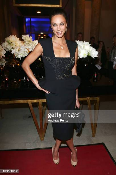 Lilly Becker attends Basler Autumn/Winter 2013/14 fashion show during MercedesBenz Fashion Week Berlin at Hotel De Rome on January 16 2013 in Berlin...