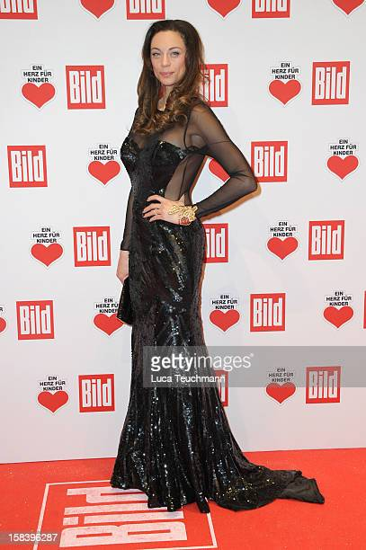 Lilly Becker attends 'Ein Herz Fuer Kinder Gala 2012' Red Carpet Arrivals at Axel Springer Haus on December 15 2012 in Berlin Germany