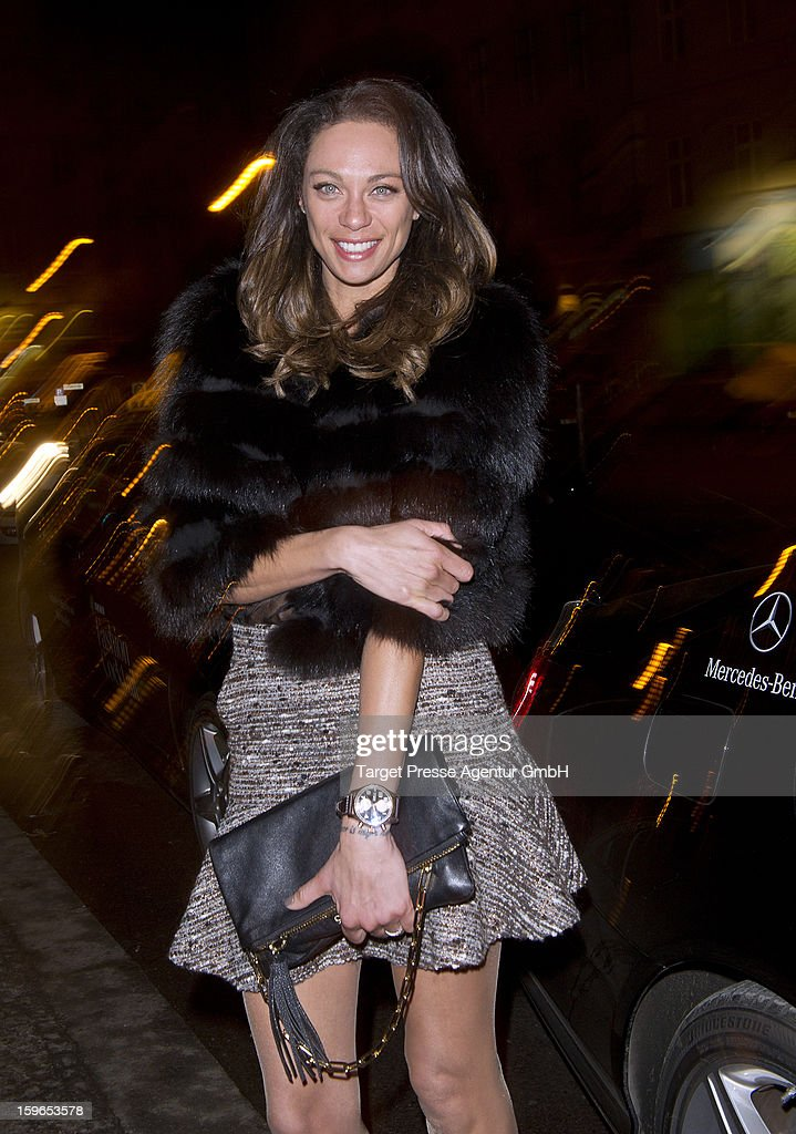 Lilly Becker attends the Brand Media Fashion Cocktail with Madame, L'Officiel Hommes, Petra and Jolie at Platoon during the Mercedes-Benz Fashion Week Autumn/Winter 2013/14 on January 17, 2013 in Berlin, Germany.