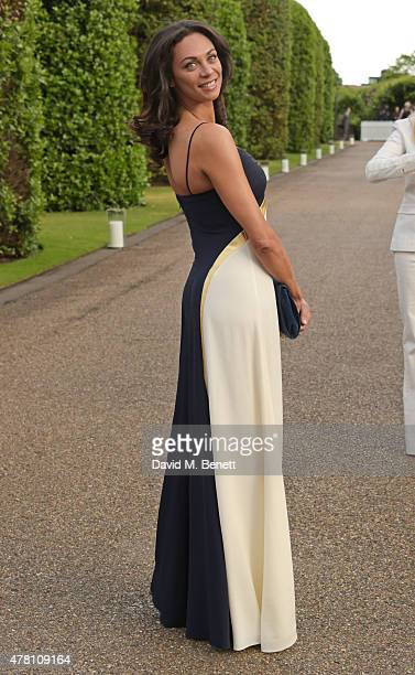 Lilly Becker attends The Ralph Lauren Vogue Wimbledon Summer Cocktail Party hosted by Alexandra Shulman and Boris Becker at The Orangery at...