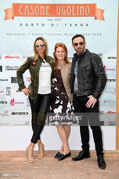 Lilly Becker Bryan Larkin and Sarah Ferguson Duchess of York attend Matchless E Bike Presentation on June 5 2016 at Casone Ugolino in Castagneto...